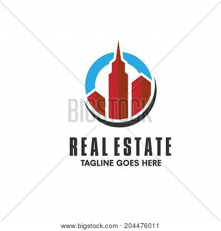 elegant and simple concept of Real Estate building Logo
