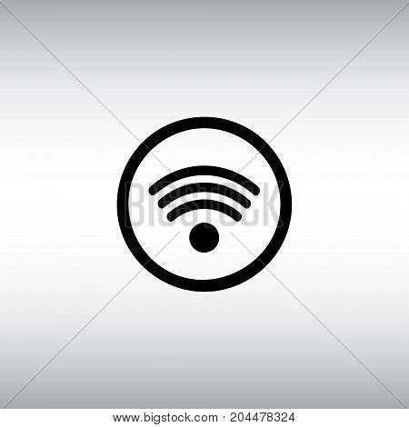 Wi-fi isolated vector icon. Free wi fi zone flat vector sign. WiFi connection round button.