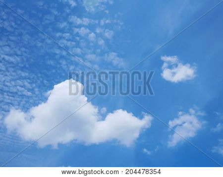 beautiful vivid blue sky with cloud with copy space