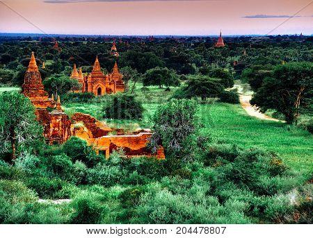 Myanmar, Bagan - Aerial View Nb.