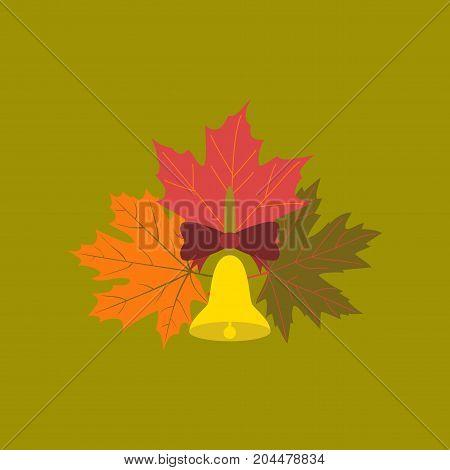 flat icon on stylish background education school bell