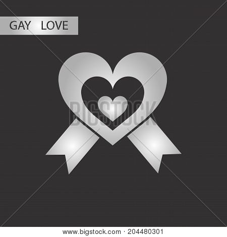 black and white style icon gay heart