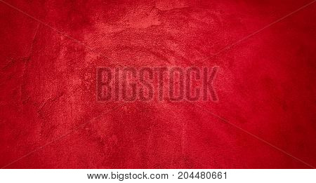 Vivid Abstract Grunge Decorative Red Background. Colorful Texture Web Banner With Copy Space. Wide Screen Textured background