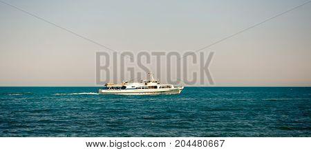 The ship overlooking the Black sea Cremea