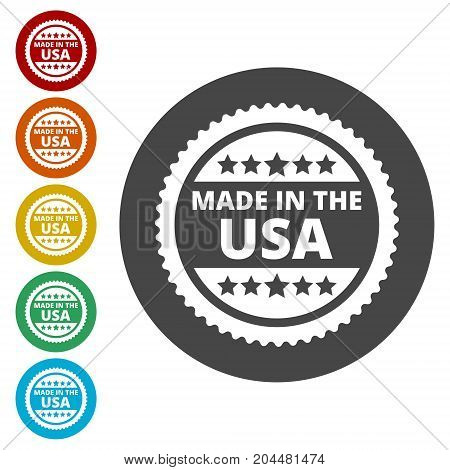 Made in the USA, simple vector icon