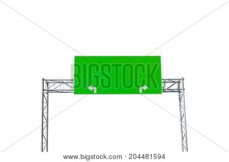 Blank road sign isolated on white background