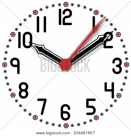 Black and White Clock Simple Fifty Edition