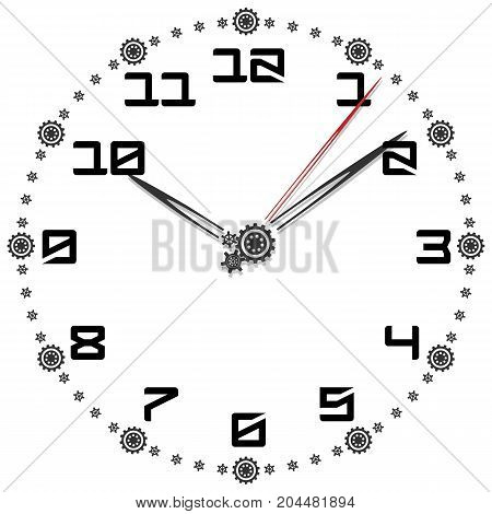 Black and White Clock Simple fifty-four edition