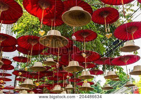 Buddhist Bells Street Art Decoration In Chiang Mai, Thailand