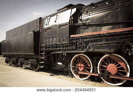 Polish Steam Locomotive With Tender.