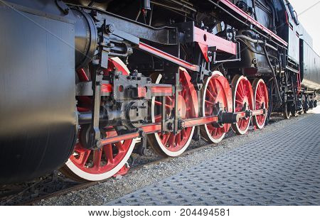 Details Of Polish Steam Locomotive.