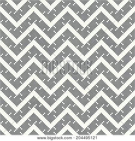 Vector seamless pattern. Abstract small textured background. Regularly repeating modern geometrical texture with small rhombuses diamonds which form zigzag continuous shapes