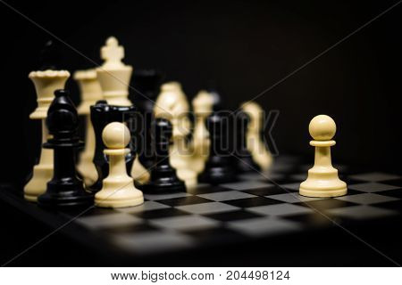 Chess (Pawn) for leader background or texture - Business & Strategy Concept.