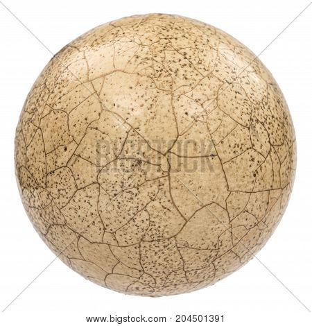 Ball With The Effect Of Craquelure, The Effect Of Cracked Surface, Isolated On White Background
