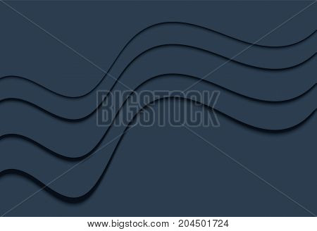 Blue wavy and line background material design overlap layer illustration