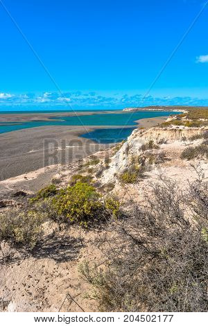 Ocean Cost Landscape Of Peninsula Valdes, Patagonia, Argentina
