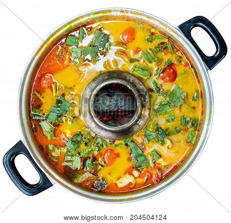 Tom Yum Is A Type Of Hot, Spicy And Sour Thai Soup.top View