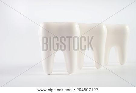 Close Up Of A White Healthy Human Teeth