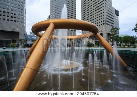 The Fountain Of Wealth, It Is The Famous Place In Suntec City, Singapore