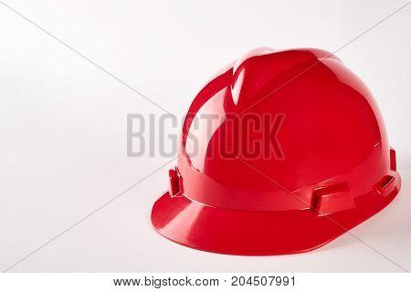 Red Plastic Safety Helmet
