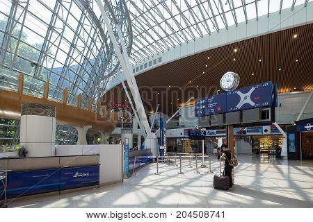 Kuala Lumpur Malaysia - July 22 2017: Inside of Kuala Lumpur International Airports (KLIA) terminal