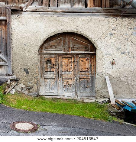 Old Door In A Building