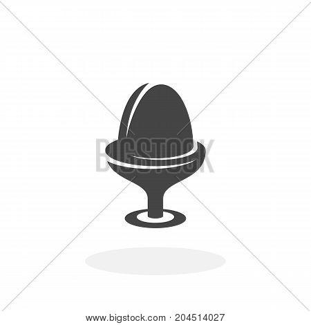 Boiled egg icon isolated on white background. Boiled egg vector logo. Flat design style. Modern vector pictogram for web graphics - stock vector