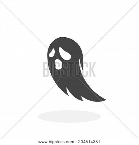 Ghost icon isolated on white background. Ghost vector logo. Flat design style. Modern vector pictogram for web graphics - stock vector