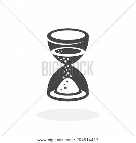 Hourglass icon isolated on white background. Hourglass vector logo. Flat design style. Modern vector pictogram for web graphics - stock vector