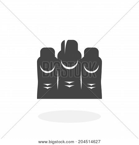 Manicure icon isolated on white background. Manicure vector logo. Flat design style. Nail and finger vector pictogram for web graphics - stock vector