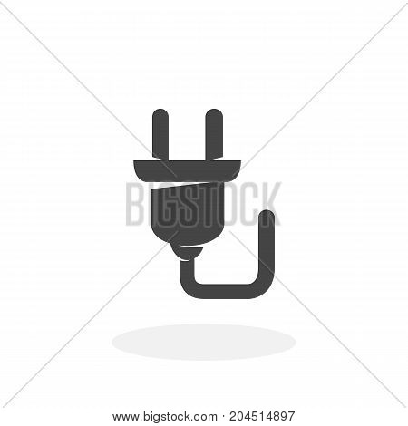 Plug icon isolated on white background. Plug vector logo. Flat design style. Modern vector pictogram for web graphics - stock vector