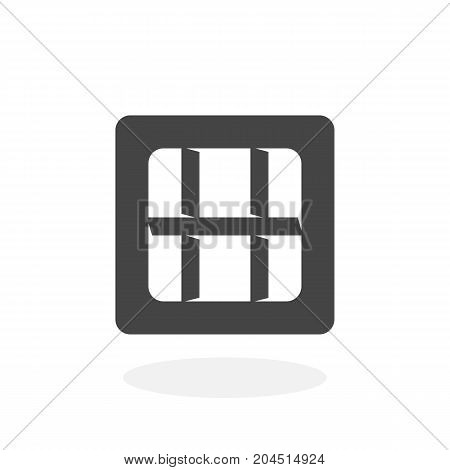 Prison icon isolated on white background. Prison vector logo. Flat design style. Jail vector pictogram for web graphics - stock vector