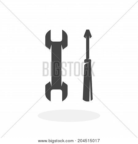 Tools or repair icon isolated on white background. Tools or repair vector logo. Flat design style. Modern vector pictogram for web graphics - stock vector