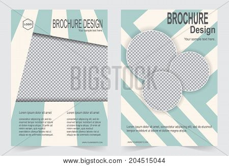Green Brochure template flyer design abstract template for annual report magazine poster