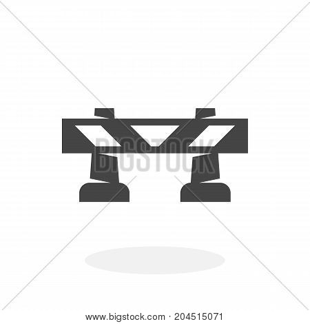 Road barrier icon isolated on white background. Road barrier vector logo. Flat design style. Modern vector pictogram for web graphics - stock vector