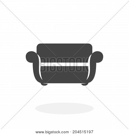 Sofa icon illustration isolated on white background sign symbol. Sofa vector logo. Modern vector pictogram for web graphics - stock vector