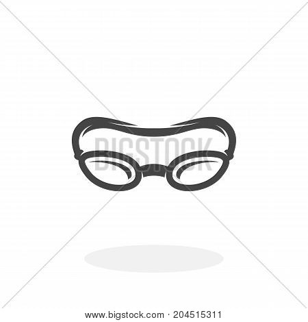 Swimming glasses icon illustration isolated on white background sign symbol. Swimming glasses vector logo. Modern vector pictogram for web graphics - stock vector