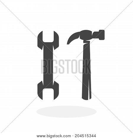 Tools or repair icon illustration isolated on white background sign symbol. Tools or repair vector logo. Modern vector pictogram for web graphics - stock vector