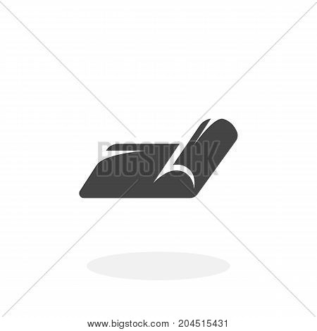 Yoga mat icon illustration isolated on white background sign symbol. Yoga mat vector logo. Modern vector pictogram for web graphics - stock vector