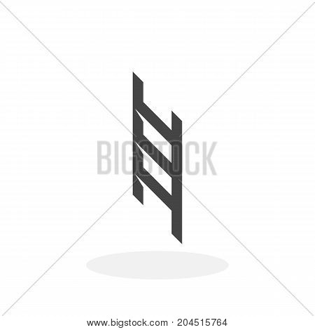 Ladder icon illustration isolated sign symbol. Ladder vector logo. Flat design style. Modern vector pictogram for mobile and web design - stock vector