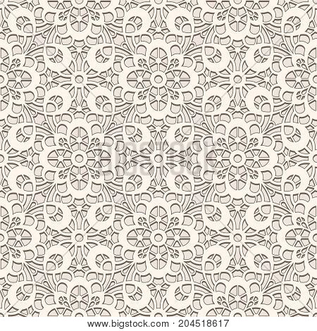 Vintage lace texture seamless tulle pattern cutout paper ornament