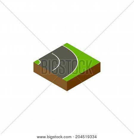 Asphalt Vector Element Can Be Used For Asphalt, Road, Bitumen Design Concept.  Isolated Road Isometric.