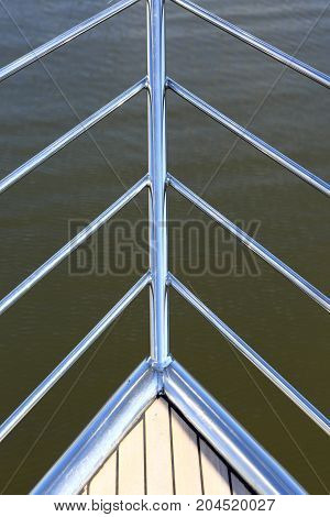 Element of yacht on the sea background