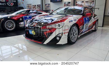 Racing Sports Car Presented In Odaiba Showroom. Tokyo, Japan