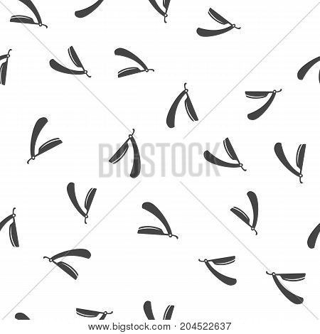 Straight razor seamless pattern. Vector illustration for backgrounds