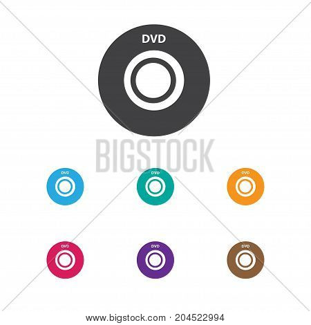 Vector Illustration Of Song Symbol On Dvd Icon