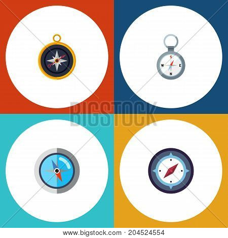 Flat Icon Orientation Set Of Direction, Divider, Orientation And Other Vector Objects
