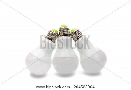 Light electric bulb isolated on white background