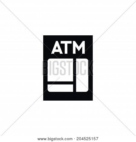 Banking Vector Element Can Be Used For Banking, Atm, Money Design Concept.  Isolated Atm Icon.