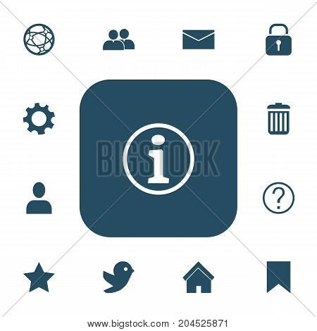 Set Of 13 Editable Internet Icons. Includes Symbols Such As Security, Network, Faq And More